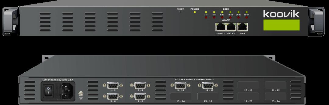 12STREAMPro4-CVBS-M2 - MPEG2 ENCODER AND MUXER TO IPTV GATEWAY HEADEND - koovik