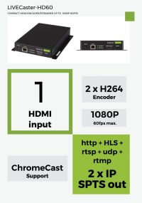 LIVECaster-HD60 compact hdmi encoder/Streamer up to 1080p 60fps - koovik