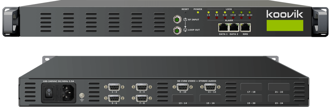 12AVPro4-M2RF - MPEG2 ENCODER, MUXER, DIGITAL TV MODULATOR AND IPTV GATEWAY HEADEND - koovik