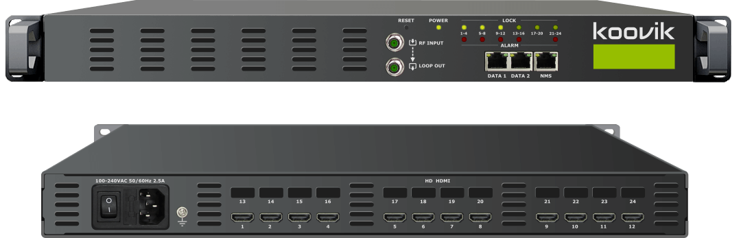 12HDMIPro4-M4RF - MPEG4 HD ENCODER, REMUXER, DIGITAL TV MODULATOR & IPTV GATEWAY HEADEND - koovik