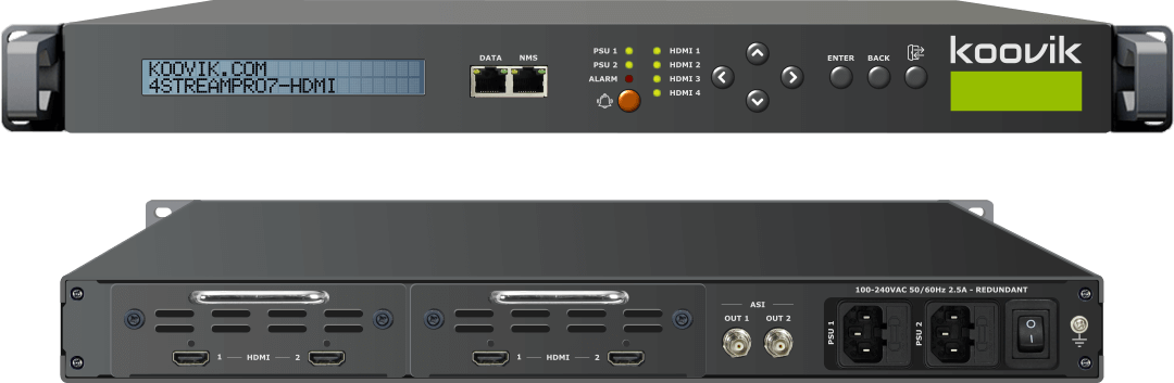 4STREAMPro7-HDMI-M24 - HDMI MPEG2/MPEG4 ENCODER AND ASI REMUXER TO IPTV GATEWAY HEADEND - koovik