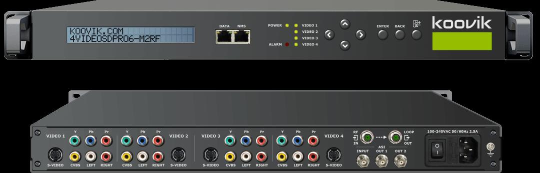 4VIDEOSDPro6-M2RF - AUDIO/VIDEO SD MPEG2 ENCODER, REMUXER, DIGITAL TV MODULATOR & IPTV GATEWAY HEADEND - koovik