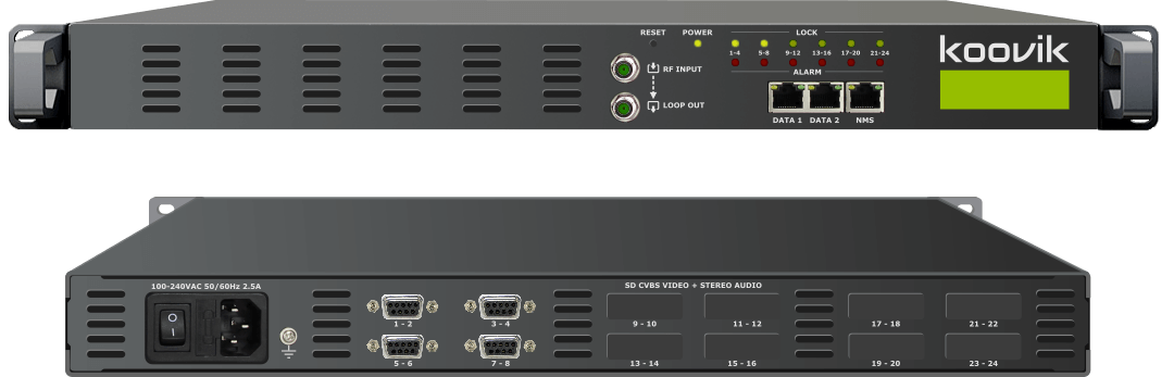 8AVPro4-M2RF - MPEG2 ENCODER, MUXER, DIGITAL TV MODULATOR AND IPTV GATEWAY HEADEND - koovik