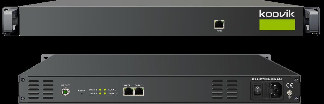 koovik IPPro4-RF IPTV SPTS or MPTS to 8 MUX DVB-T/DVB-C RF MODULATOR.