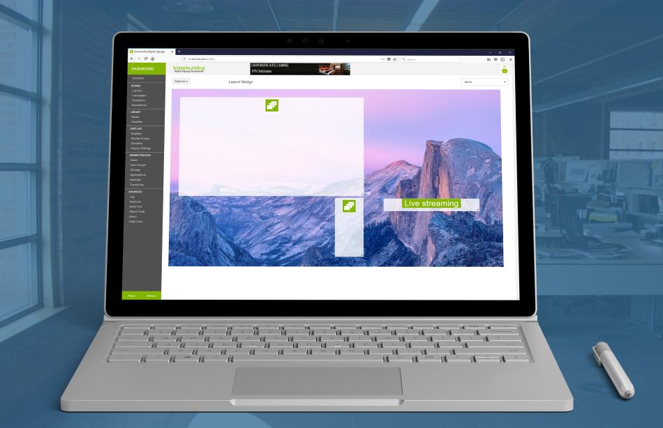 koomunika desktop design