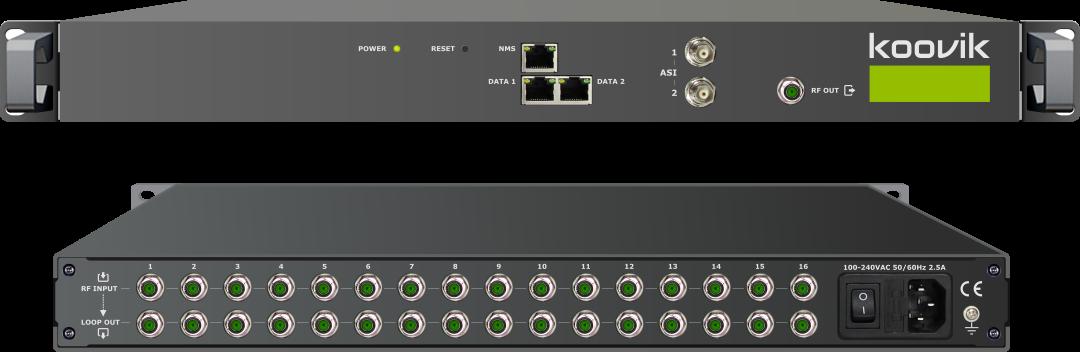 16RFIPPro4-RF 16RFIPPro4-RF DIGITAL RF + ASI + IPTV to 8 MUX DVB-T or 16 MUX DVB-C RF MODULATOR