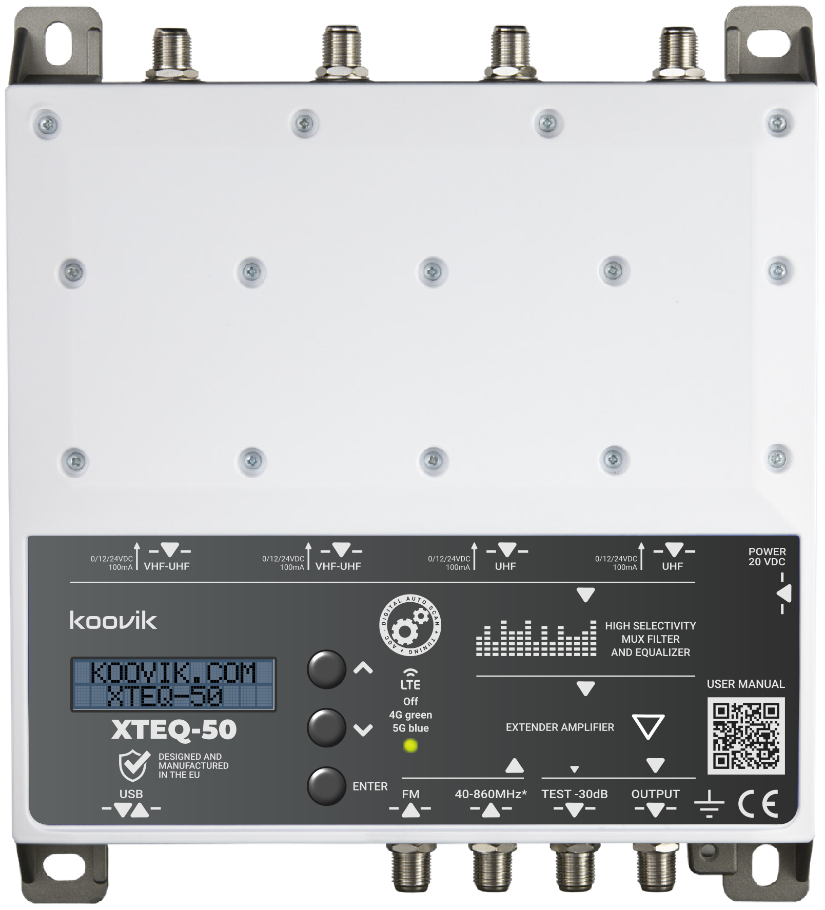 XTEQ-50 ultra selective filter equalizer and MATV amplifier